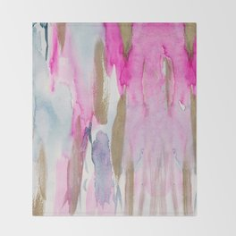 Colorful fluid colors Throw Blanket