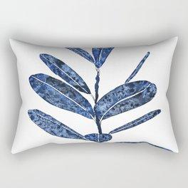 indigo ficus leaf watercolor Rectangular Pillow