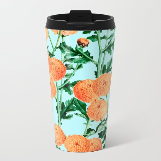 Summer Bloom #society6 #decor #buyart Metal Travel Mug