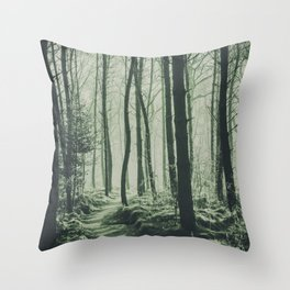 The Light of the Forest IV Throw Pillow
