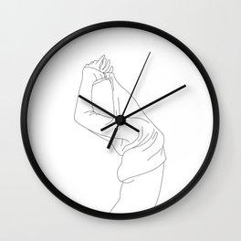 Fashion illustration line drawing - Jens Wall Clock