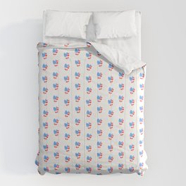 Watercolor Heart USA Comforters