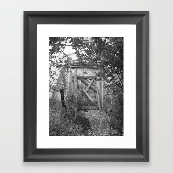 "Door to the deep down ""LIME"" Framed Art Print"