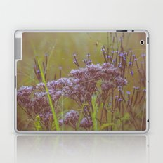Summer Botanical Meadow Marsh with Joe Pye Weed and Blue Vervain Wildflowers Laptop & iPad Skin