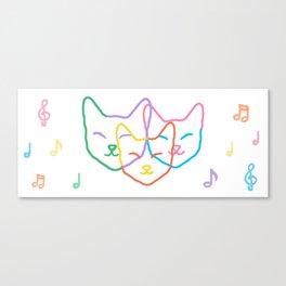 Smiley kats Canvas Print