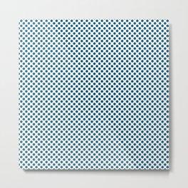 Blue Sapphire Polka Dots Metal Print
