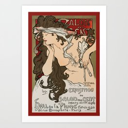 "Alphonse Mucha ""Salon des Cent (Salon of the Hundred)"", 1896 Art Print"