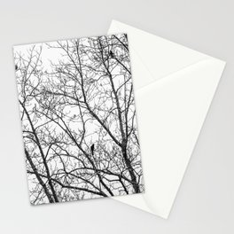 Birds in Bare Trees Stationery Cards