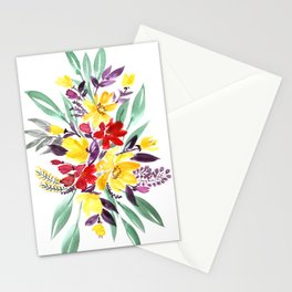 """Floral bouquet in fall colors """"Eloisse"""" Stationery Cards"""