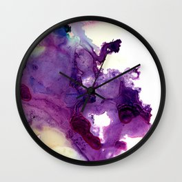 Purple composition Wall Clock