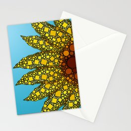Sunflower in Abstract Form - Flower field - Autumn and summer collide - 57 Montgomery Ave Stationery Cards