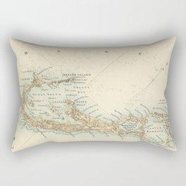 Vintage Map of Bermuda (1872) Rectangular Pillow