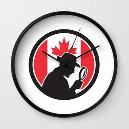 Canadian Private Investigator Canada Flag Icon Wall Clock