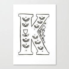 k is for Canvas Print