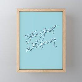 The Yeast Whisperer (Handwritten) Framed Mini Art Print