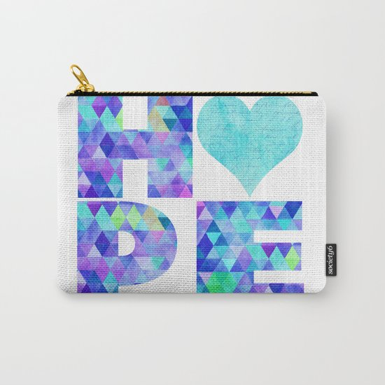 Hope Word Art Carry-All Pouch