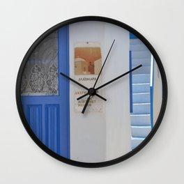 Milos door Wall Clock