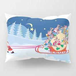 Santa Claus and reindeers Pillow Sham
