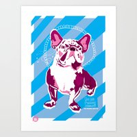 The Frenchie Loves You Art Print