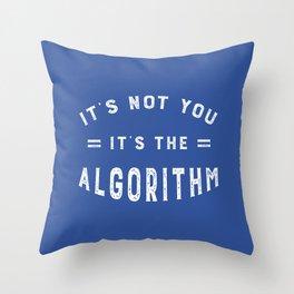 Blame the Social Media Algorithm Throw Pillow