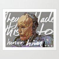 robocop Art Prints featuring ROBOCOP by TidyDesigns