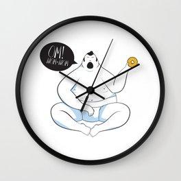 OM! NOM-NOM Wall Clock