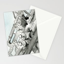 Tuba pistons Stationery Cards