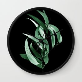 Eucalyptus III - night Wall Clock
