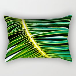 Green Palm Poetry Rectangular Pillow