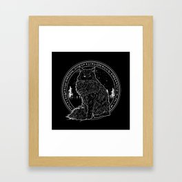 FOREST CAT Framed Art Print