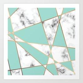 Marble Geometry 055 Art Print