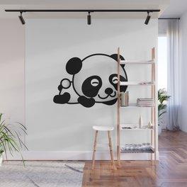 Cute Baby Panda Wall Mural