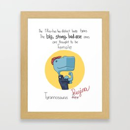 Regina the Riveter Framed Art Print