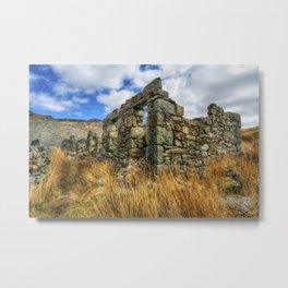Cwmorthin Slate Quarry Metal Print