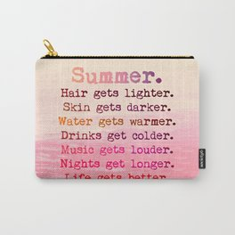SUMMER IN PINK Carry-All Pouch
