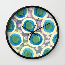 Four Directions beneath Circles Pattern Wall Clock