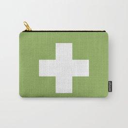 Swiss Cross Green Carry-All Pouch