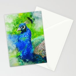 Painted Peacock Stationery Cards