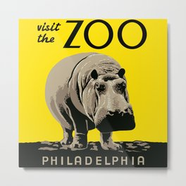Visit the Zoo Metal Print