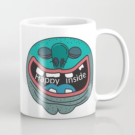 Happy Inside (Blue Man) Coffee Mug