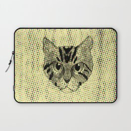 Cat Face Pencil Color Drawing Laptop Sleeve