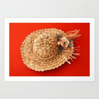 hat Art Prints featuring Hat  by Gaspar Avila