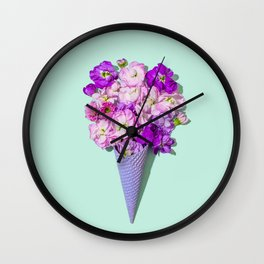 Flower Flurry II Wall Clock