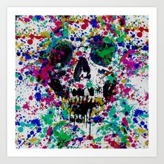 Skull Splash II Art Print