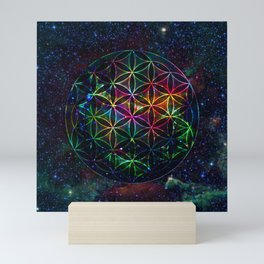 Flower of Life in the Universe - Universe in the Flower of Life Mini Art Print