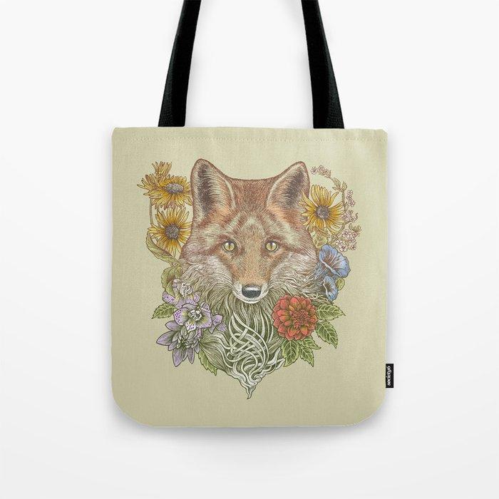 Fox Garden Tote Bag