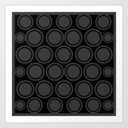 Black and Grey Circles | Mod Graphic Pattern #2 | Nadia Bonello | Canada Art Print