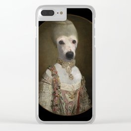 """Marie """"Chien""""toinette Clear iPhone Case"""