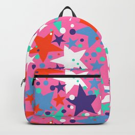 Fun ditsy print with constellations and twinkle lights Backpack