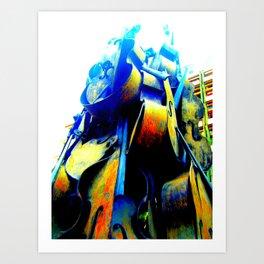 Technicolor Cellos  Art Print